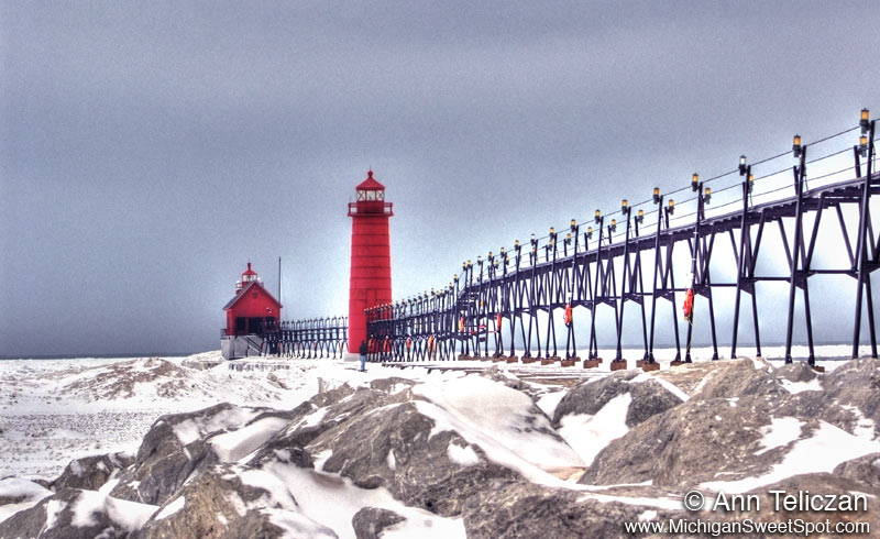 Grand Haven Winter Lighthouse