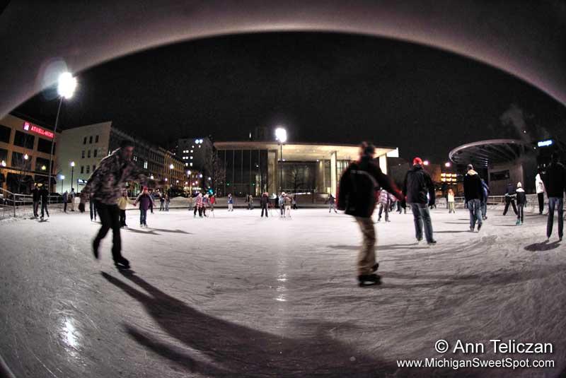 Ice Skating At Rosa Parks Circle