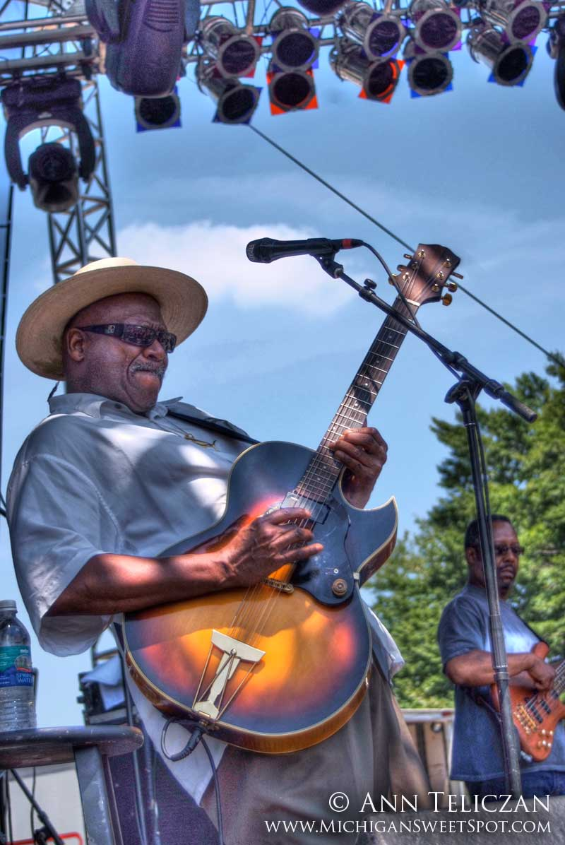 Taj Mahal shows his stuff at Rothbury Music Festival in Michigan over the 4rth of July weekend.