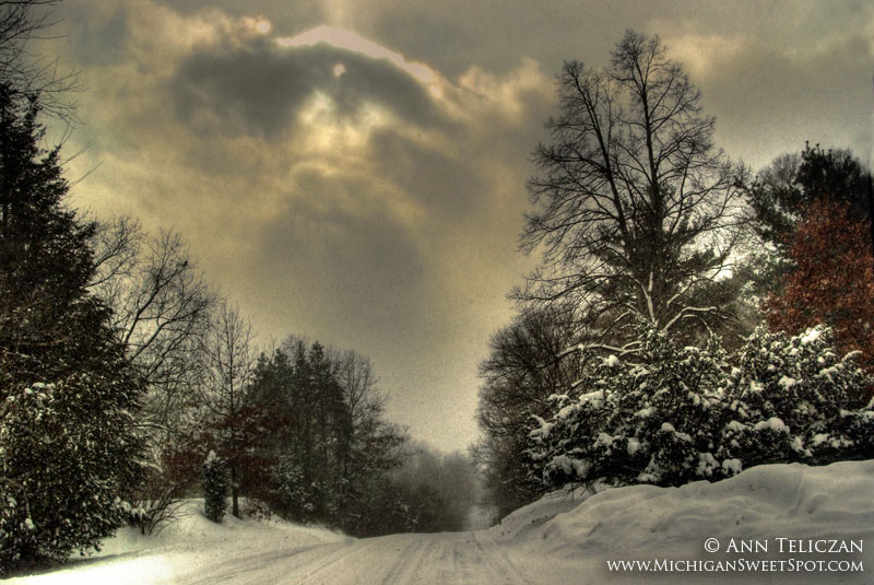 Honey Creek Road in The Winter