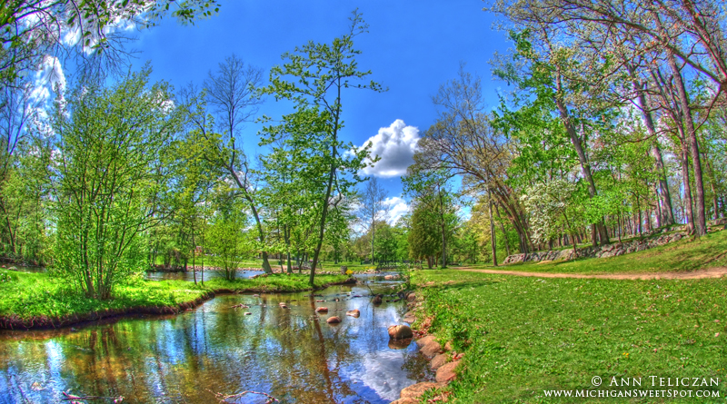 Beautiful HDR photo of Milham Park in Kalamazoo MI