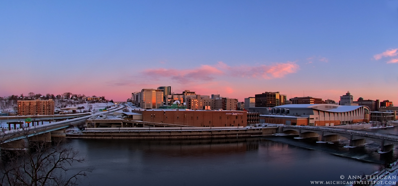 Grand Rapids Skyline And The Big Snowstorm Of 2011