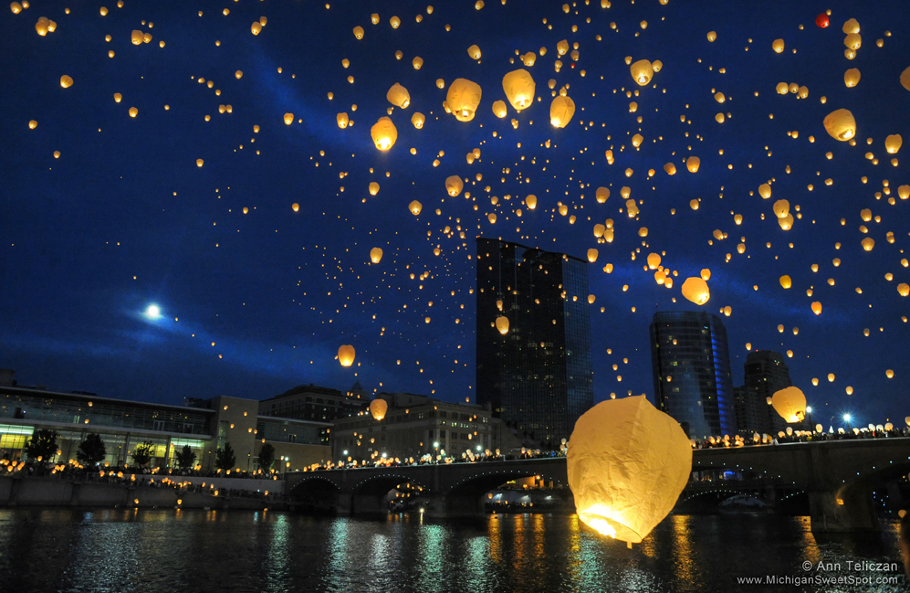 Chinese Lantern Launch at ArtPrize